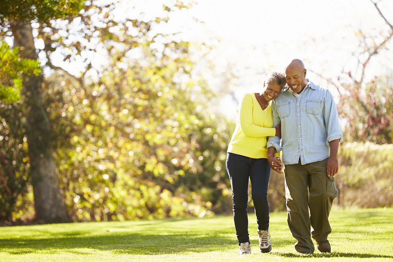 Retirement Couple Walking